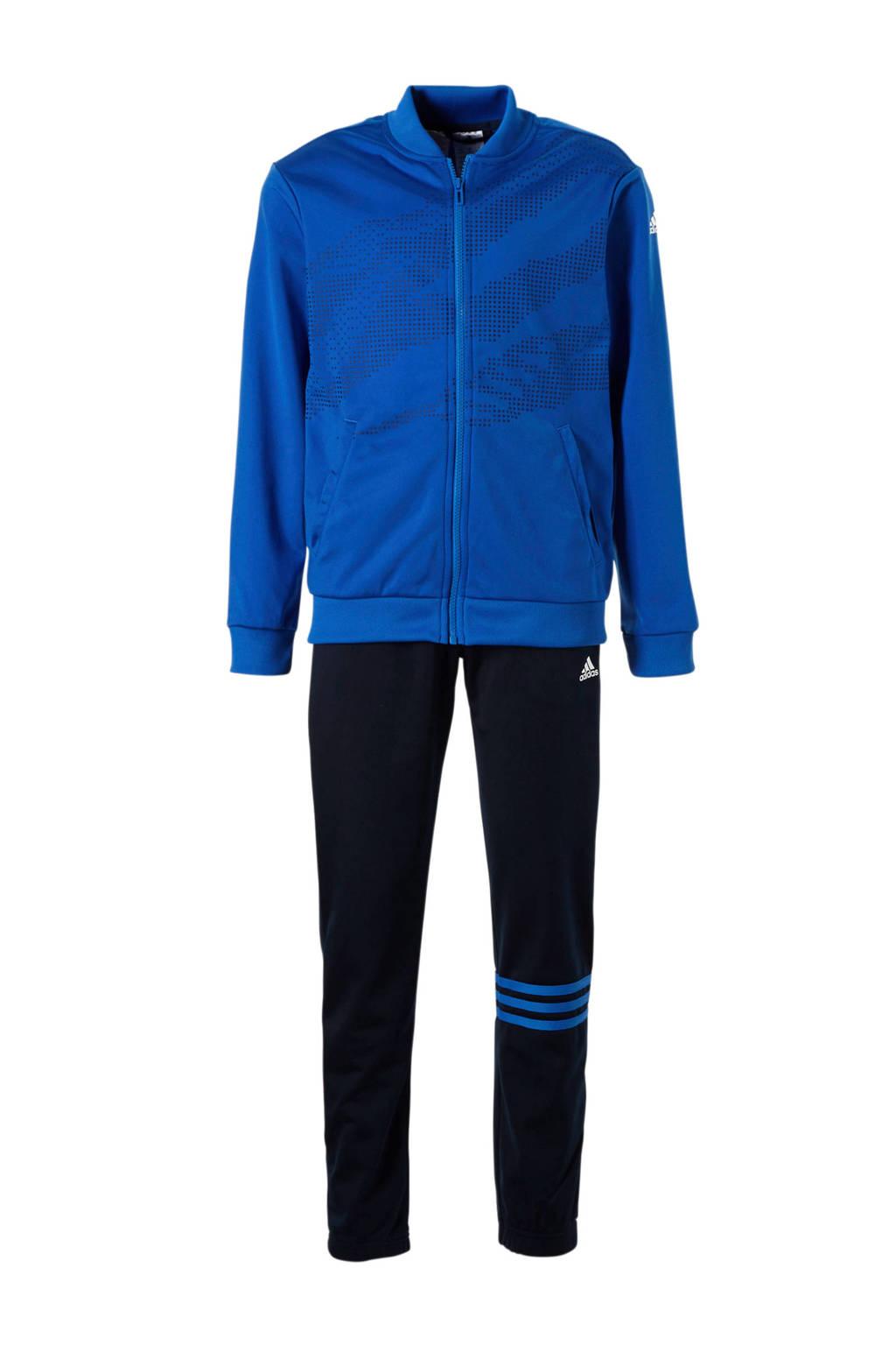 adidas performance   trainingspak, Blauw/zwart