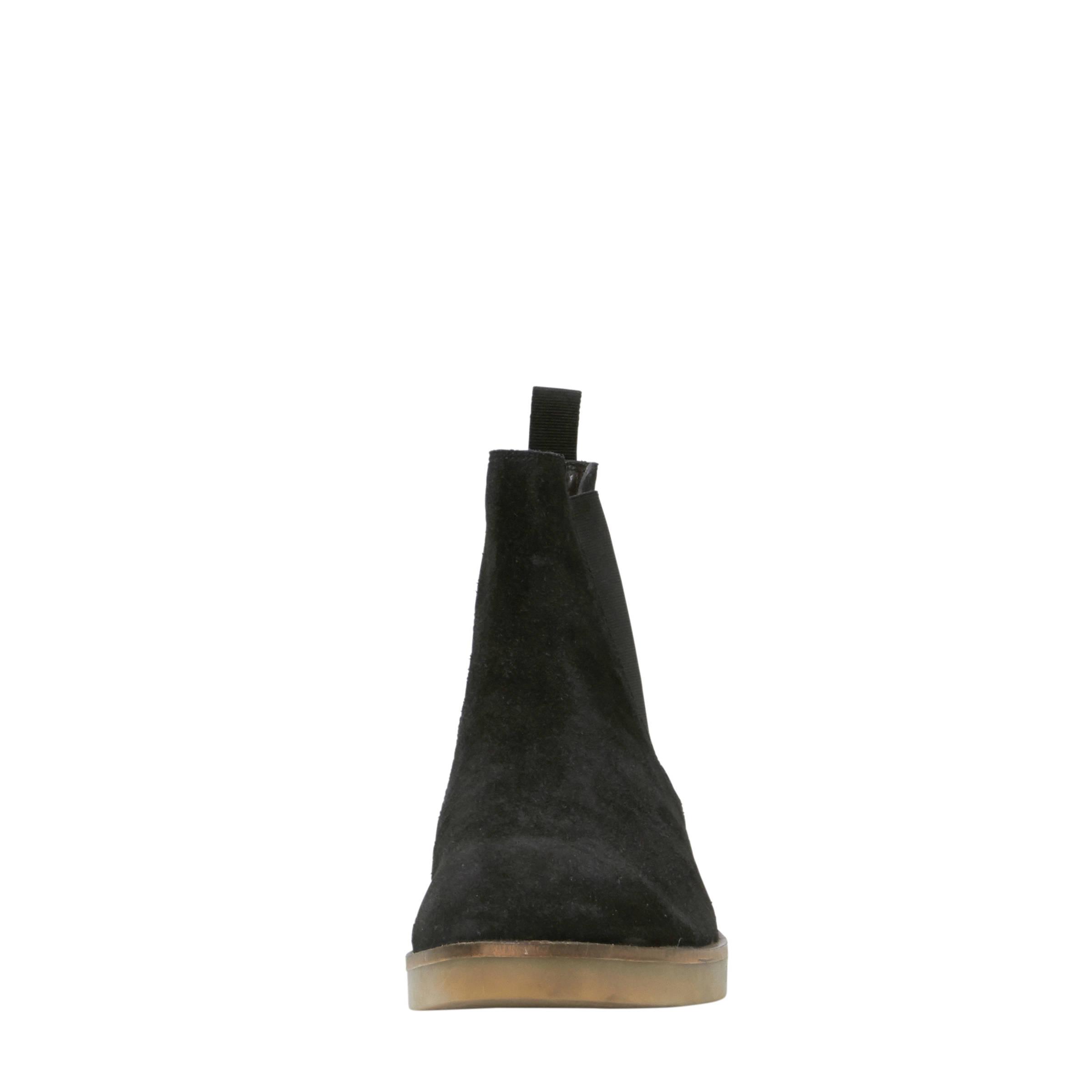 40b635b4eb4f99 Mexx suède chelsea boots zwart