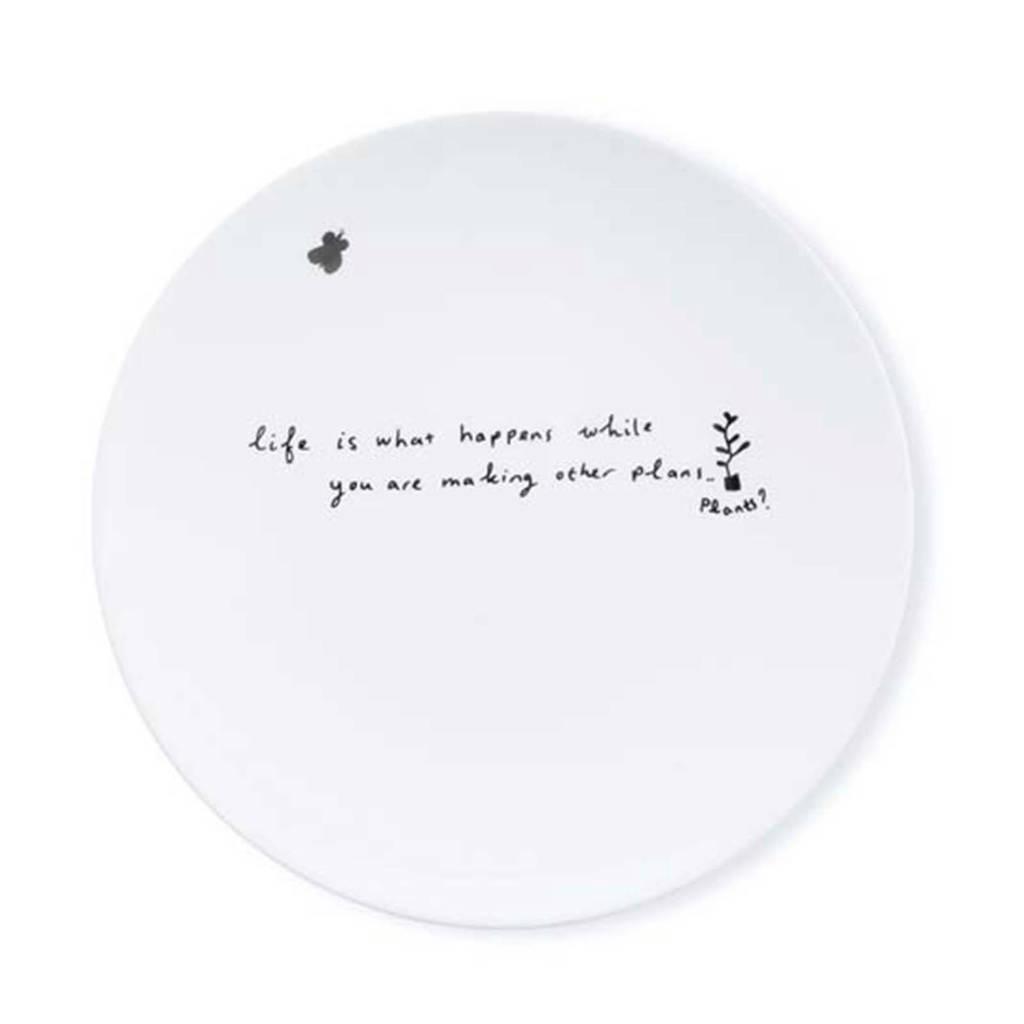 vtwonen Happy gebaksbord (Ø15 cm), Wit