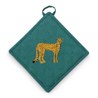 Cheetah pannenlap (22x22 cm)