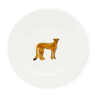 Cheetah gebaksbord (Ø17 cm)