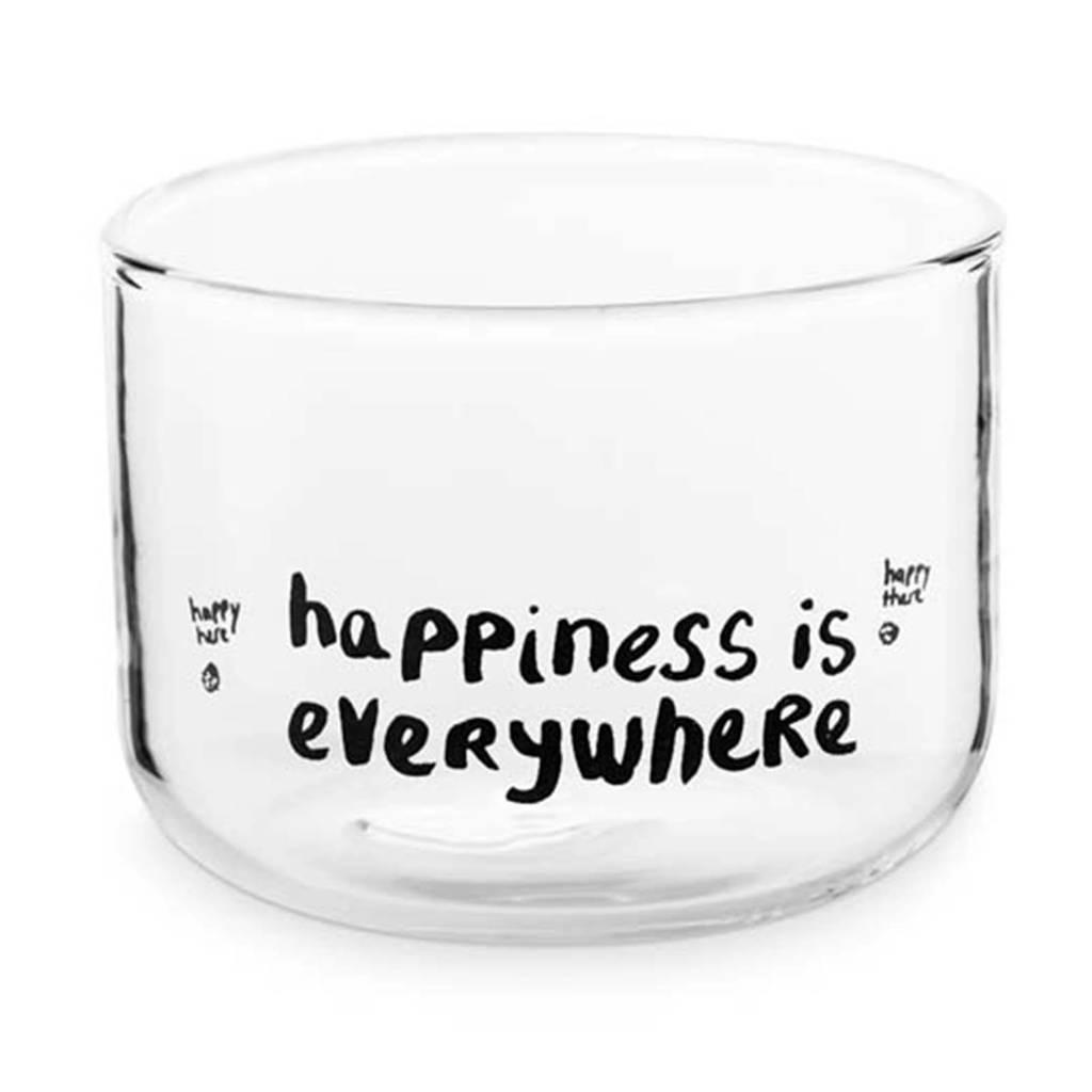 vtwonen Happy waterglas (Ø8,5 cm), Transparant