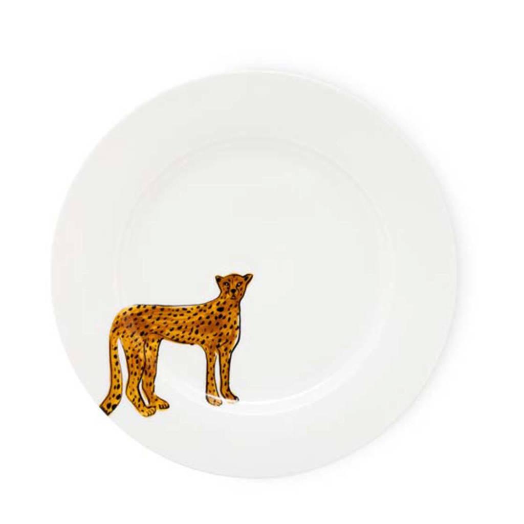 Fabienne Chapot Cheetah dinerbord (Ø27 cm), Wit