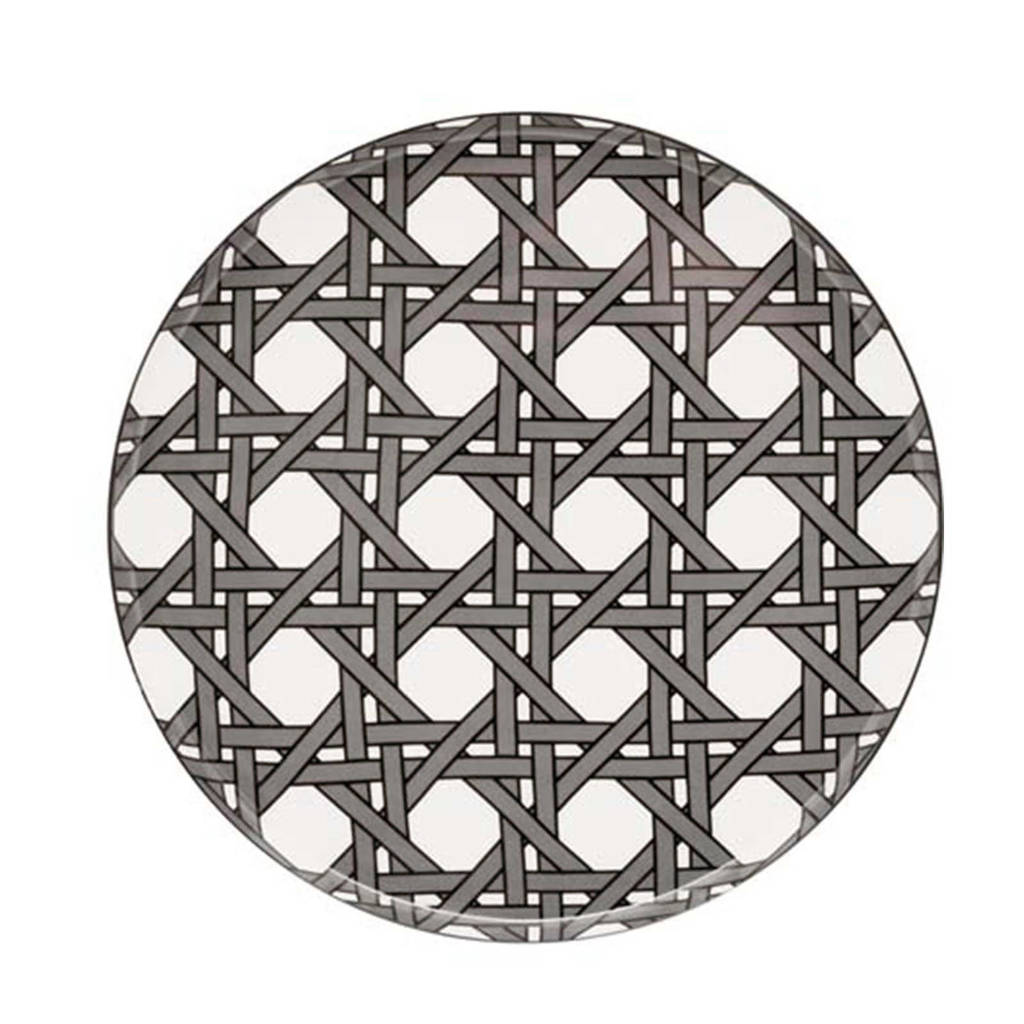 Designed for Living Webbing dinerbord (Ø26,5 cm), Grijze webbing