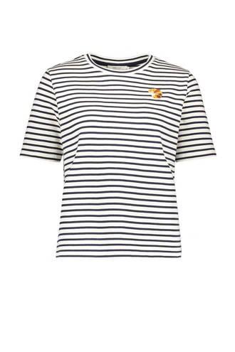 T-shirt met borduursel zwart