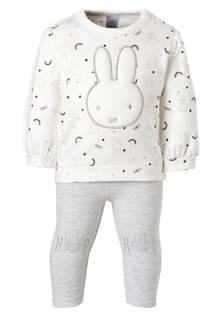 Baby Club longsleeve + legging gebroken wit