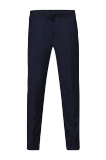 WE Fashion slim fit pantalon marine (heren)