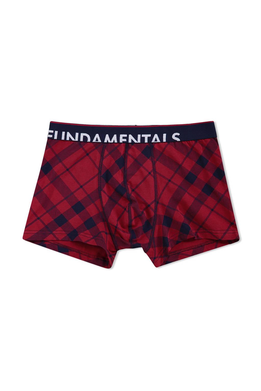WE Fashion boxershort, Donkerrood/marine