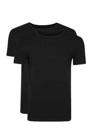 T-shirt zwart - set van 2