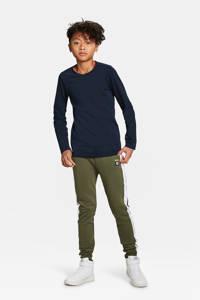 WE Fashion basic longsleeve donkerblauw, Donkerblauw