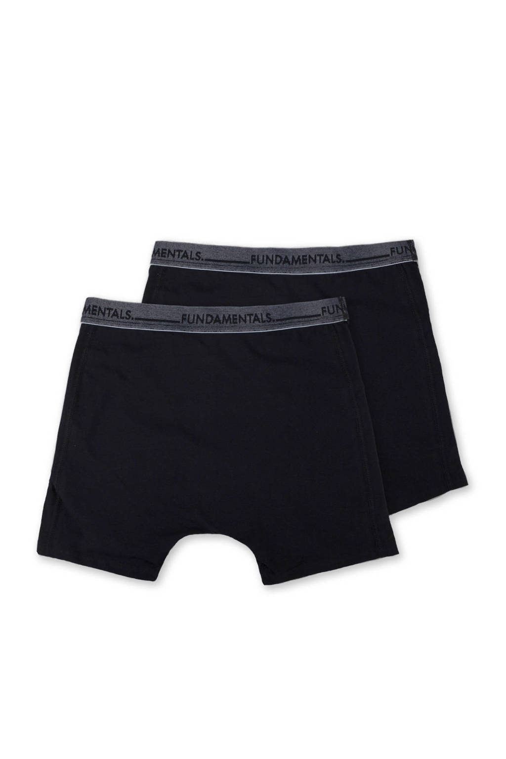 WE Fashion Fundamental boxershort (set van 2), Zwart