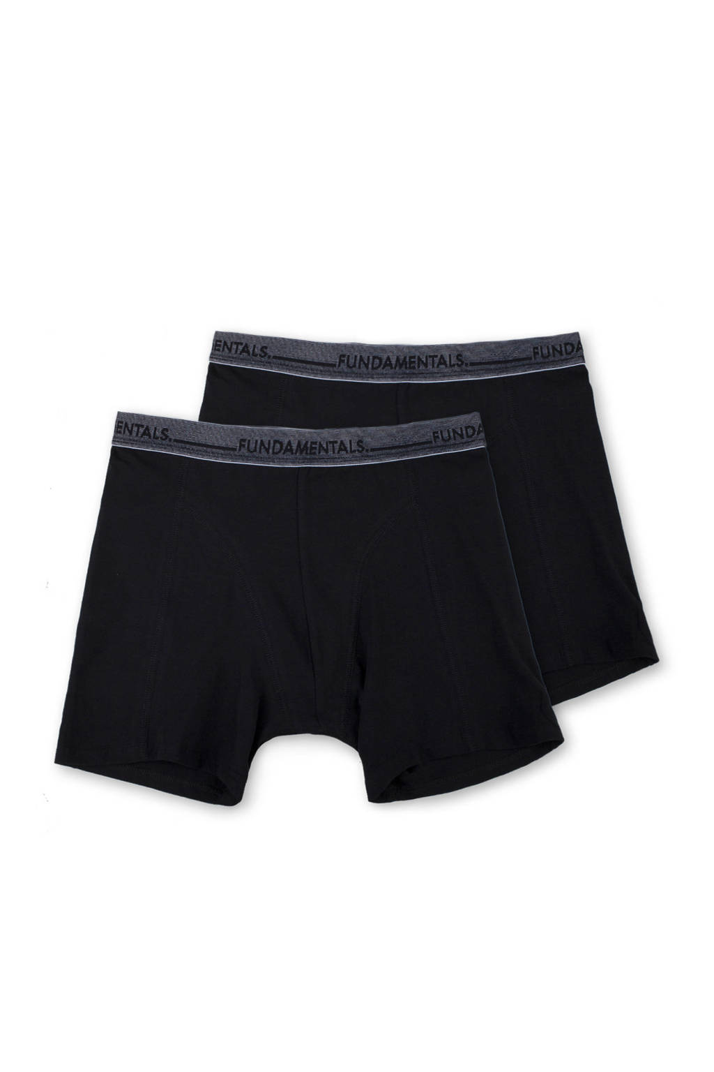 WE Fashion Fundamentals boxershort (set van 2), Zwart