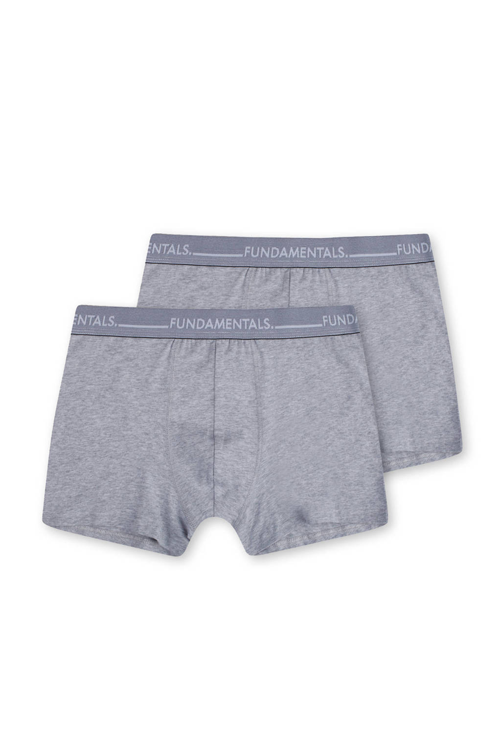 WE Fashion Fundamental boxershort (set van 2), Grijs