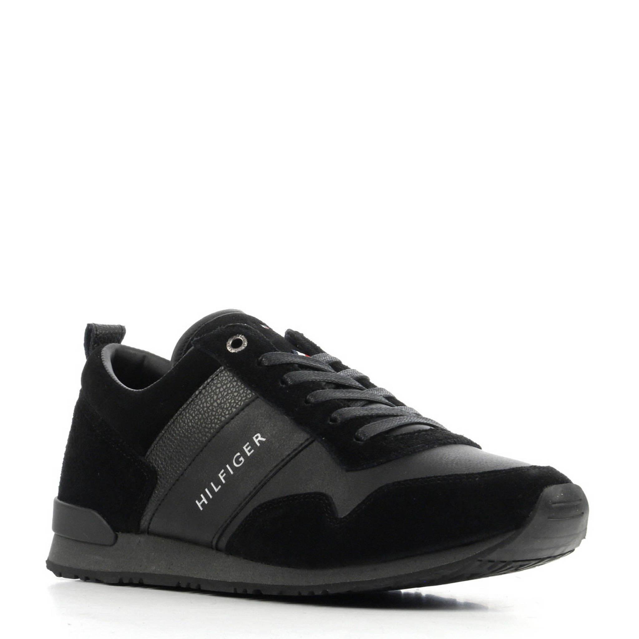 ef9c8a54edc Tommy Hilfiger suède sneakers zwart | wehkamp