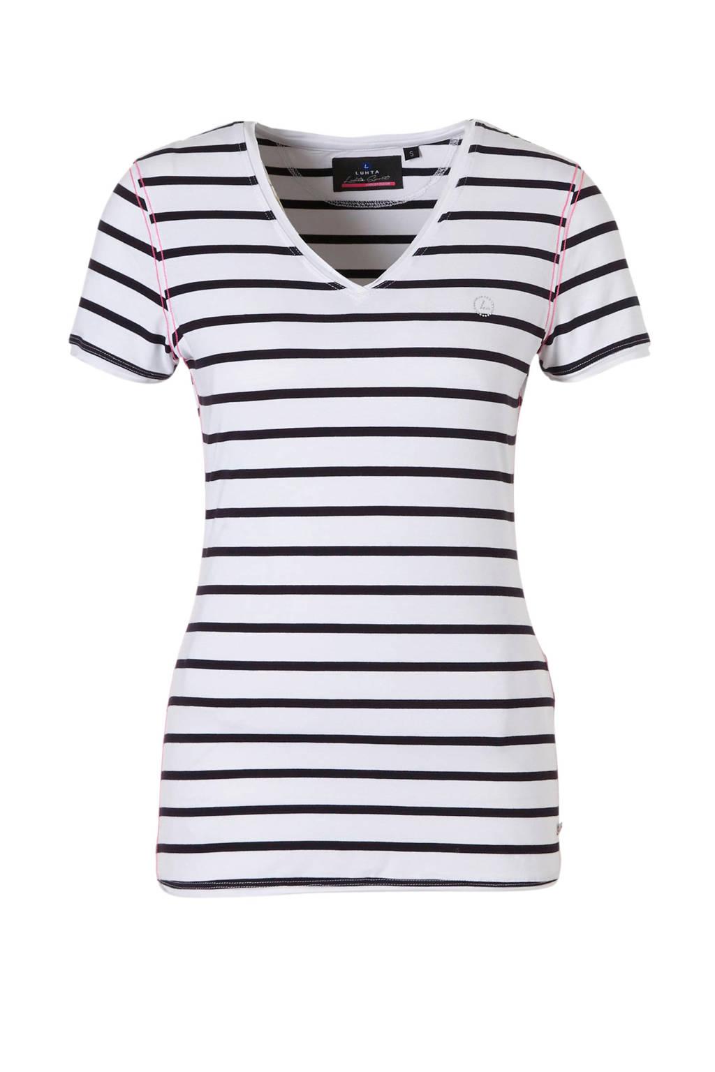 Luhta T-shirt, Wit/donkerblauw