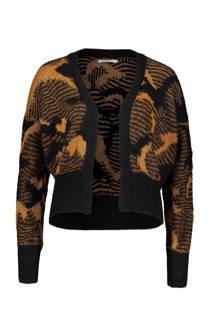 Sissy-Boy vest met jacquard dessin zwart (dames)
