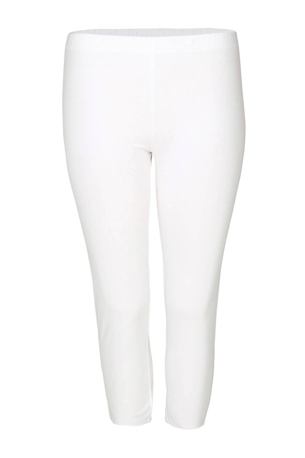 Paprika legging met biologisch katoen wit, Wit
