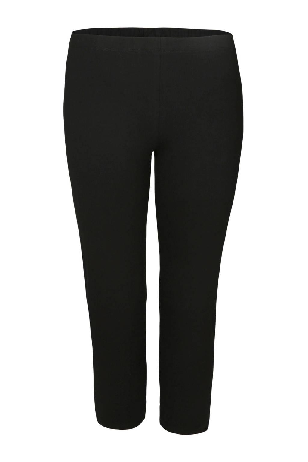 Paprika legging met biologisch katoen zwart, Zwart