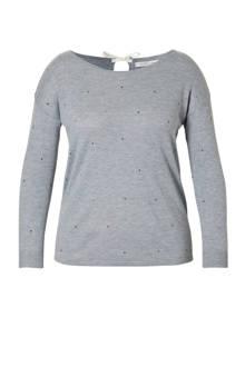 trui met stippen grijs