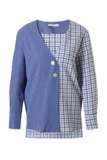 geruite blouse  blauw