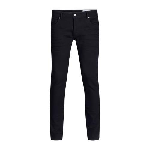 WE Fashion Blue Ridge tapered fit jeans zwart
