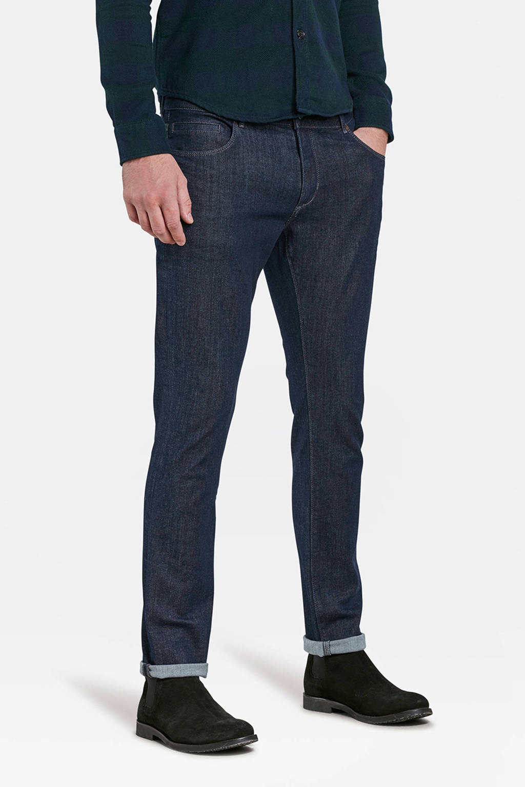 WE Fashion Blue Ridge tapered fit jeans dark denim, Dark denim