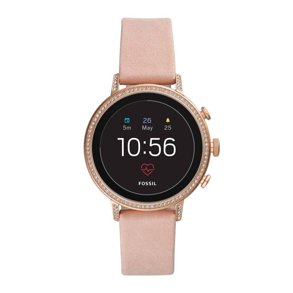 Fossil Q Venture Gen 4 smartwatch FTW6015, Rosé goud