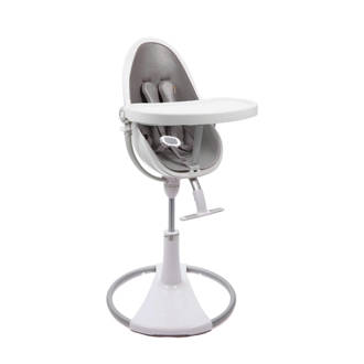 Fresco Chrome kinderstoel wit met starterkit snakeskin grey