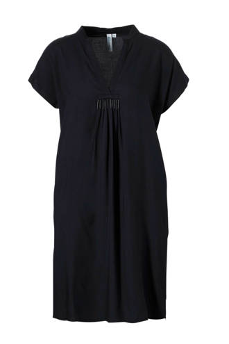 geweven viscose loose fit jurk