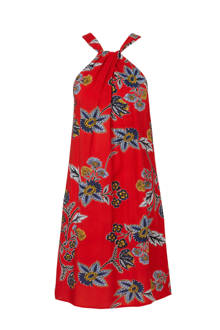 halter A-lijn jurk met bloemenprint