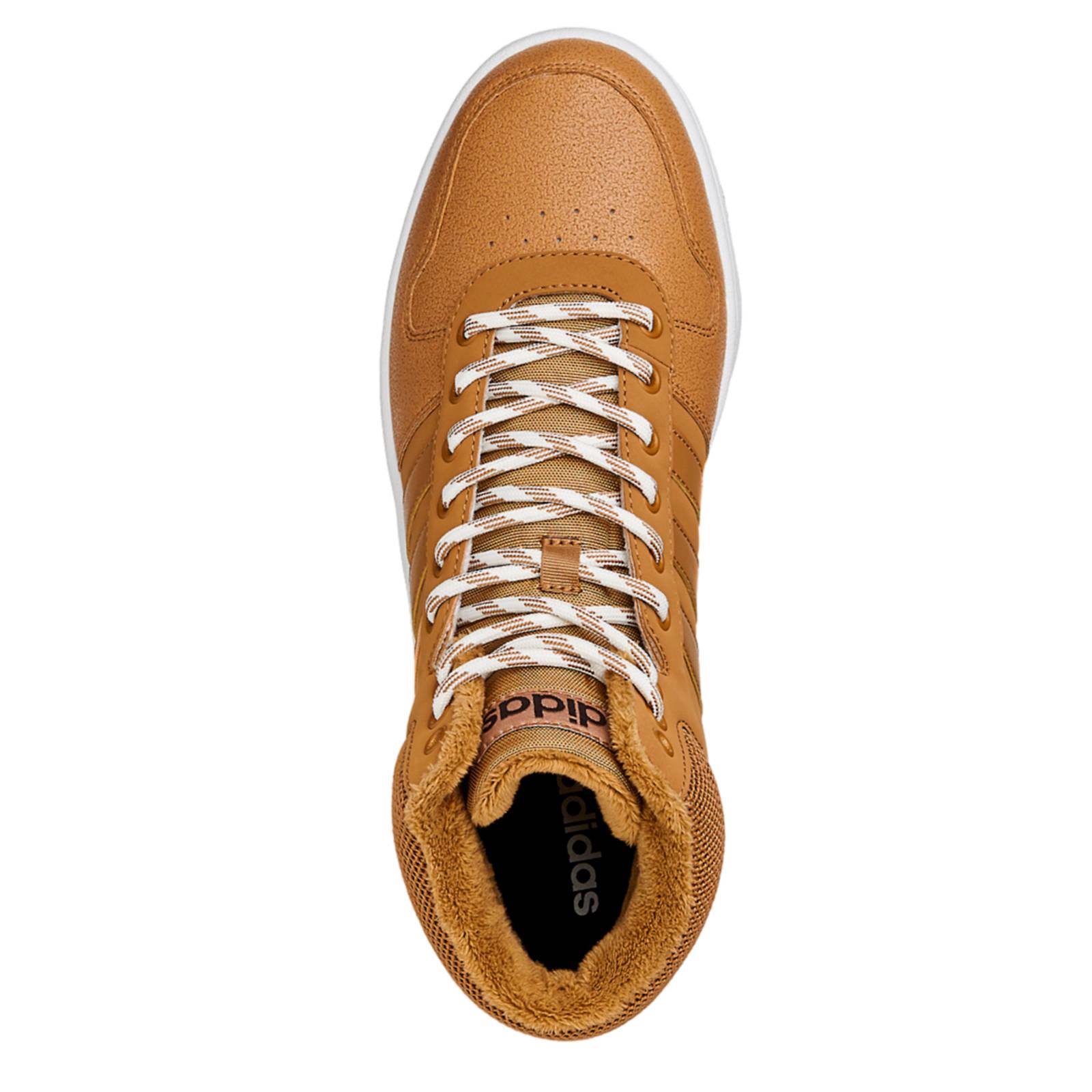 adidas Hoops 2.0 Mid sneakers camel | wehkamp