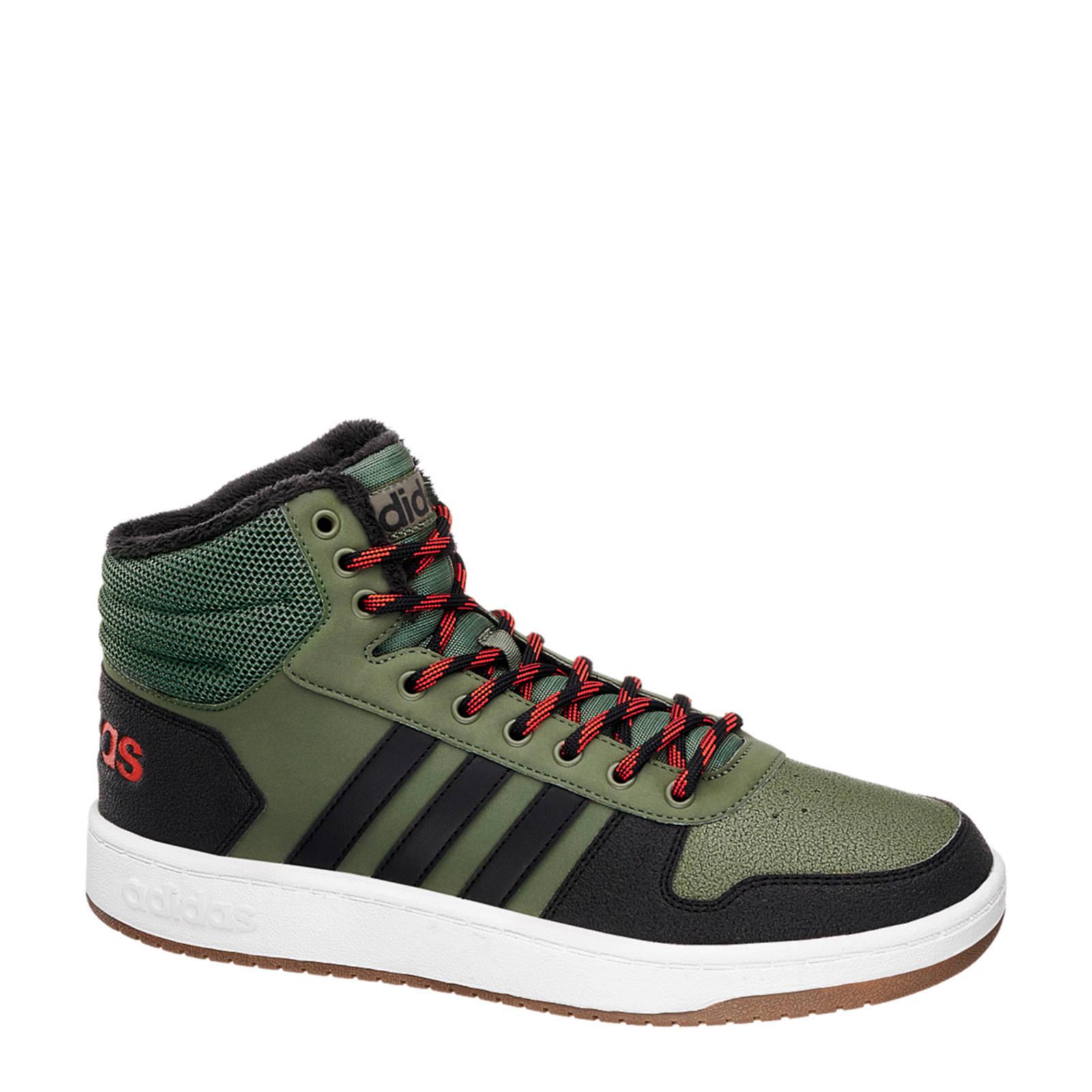 Hoops 2.0 Mid sneakers groen