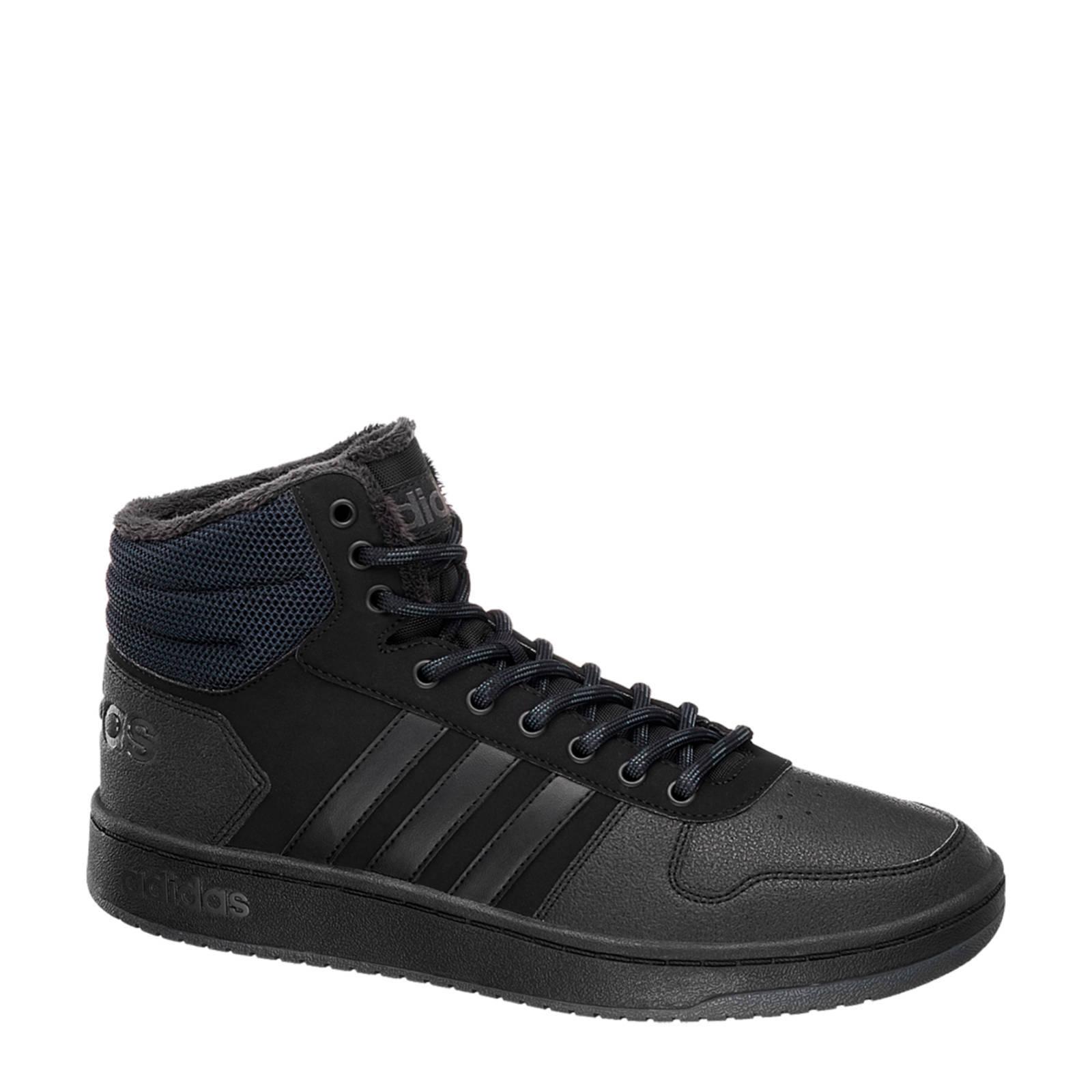 Mid 0 Zwart Hoops Sneakers Adidas Zwart 2 TqFn7
