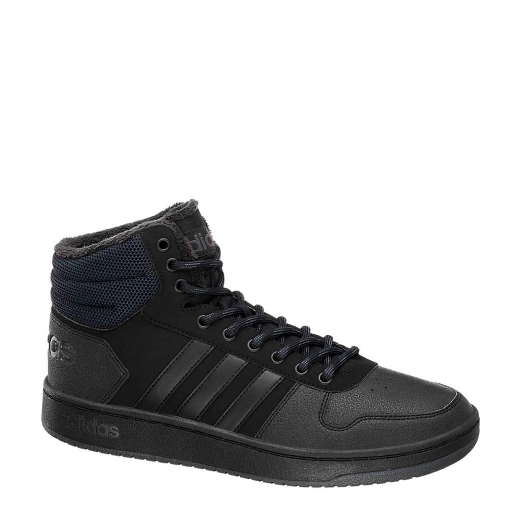 adidas   Hoops 2.0 Mid sneakers zwart, Zwart