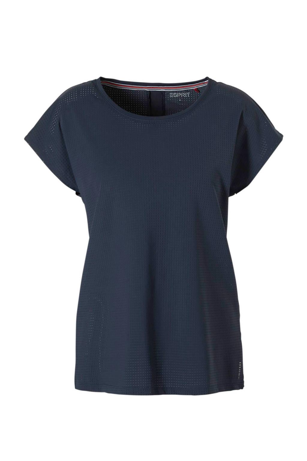 ESPRIT Women Sports sport T-shirt donkerblauw, Donkerblauw