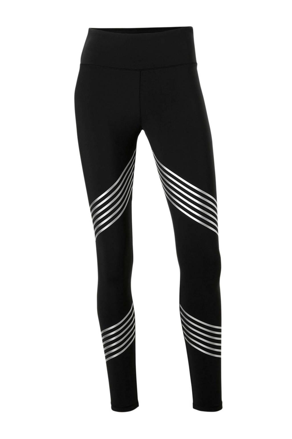 ESPRIT Women Sports sportbroek zwart/zilver, Zwart/zilver