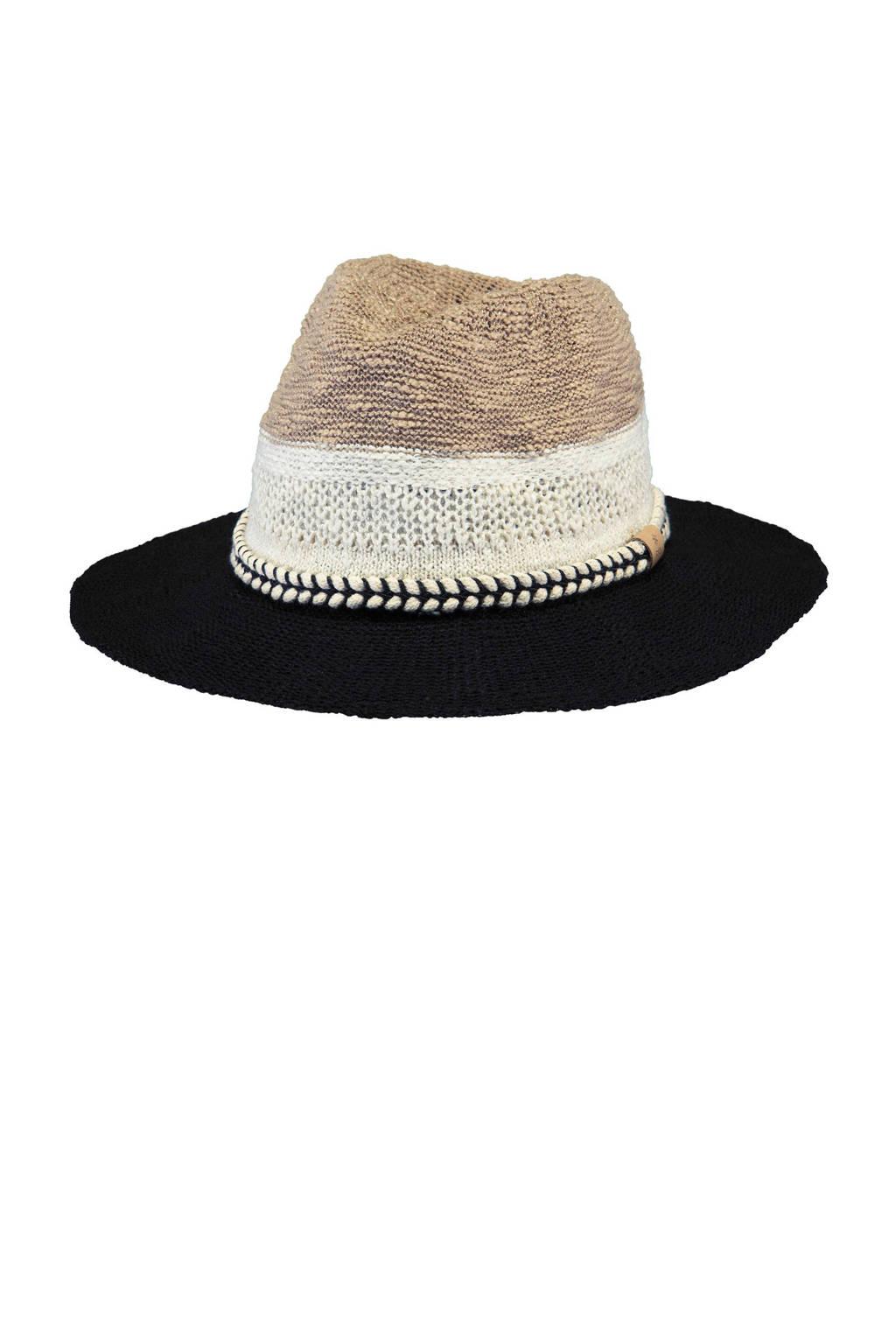 Barts hoed Ortega Hat black, Zwart/wit/ecru