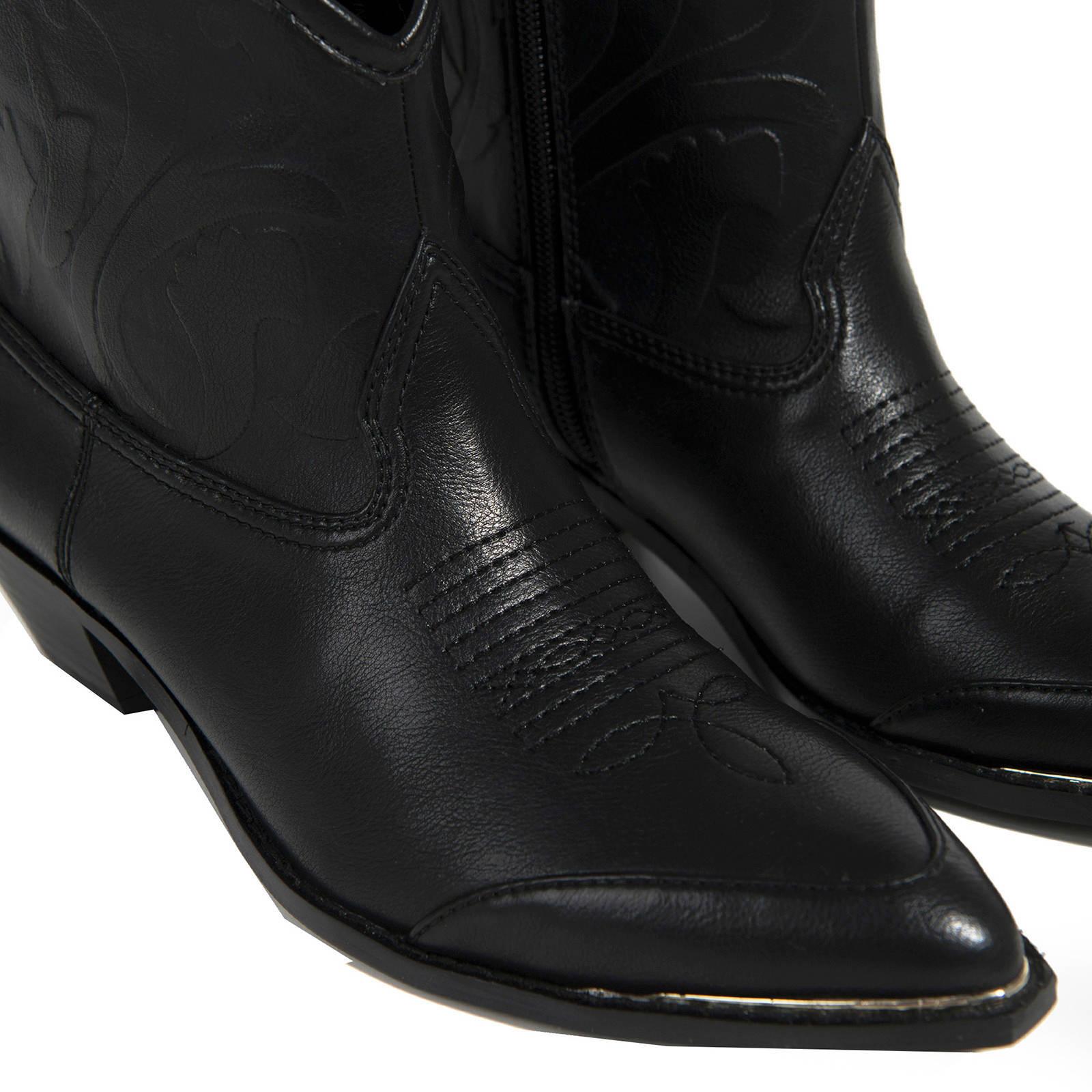 Parfois cowboy laarzen zwart | wehkamp