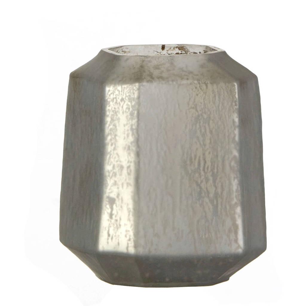 Casa Vivante waxinelichthouder Alva, Zilver frosted