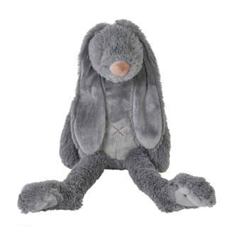 03873ddb9bb681 Happy Horse. donkergrijze Rabbit Richie knuffel 38 cm