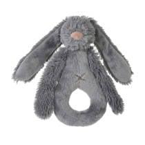 Happy Horse Deep Grey Rabbit Richie Rattle knuffel 18 cm