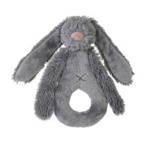 Happy Horse donkergrijze Rabbit Richie knuffel 18 cm