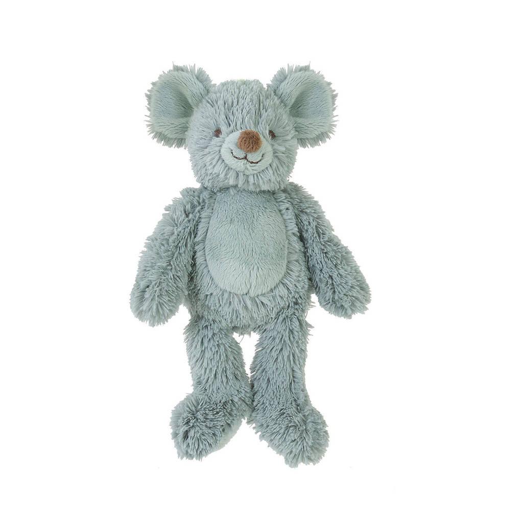Happy Horse Mouse Mel Pacifier knuffel 18 cm, Mintgroen