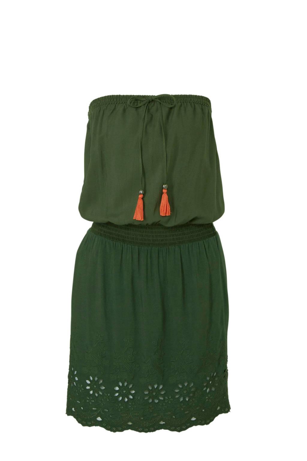 whkmp's beachwave strapless jurk, Groen