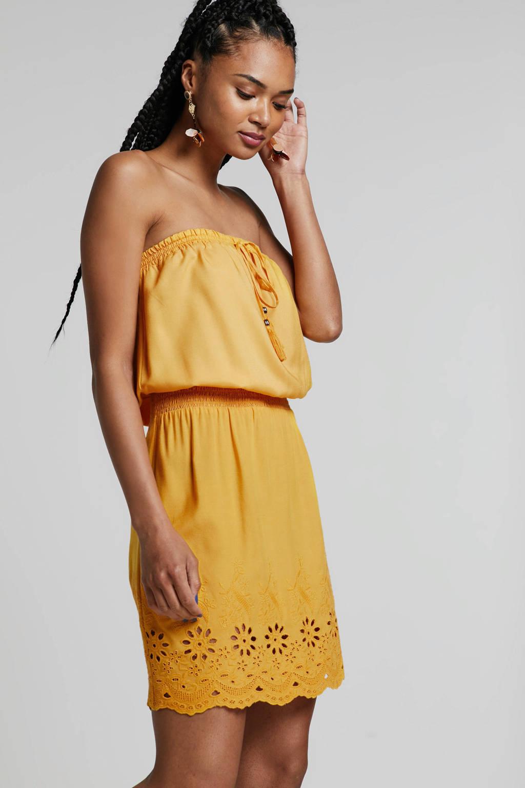 whkmp's beachwave jurk okergeel, Okergeel