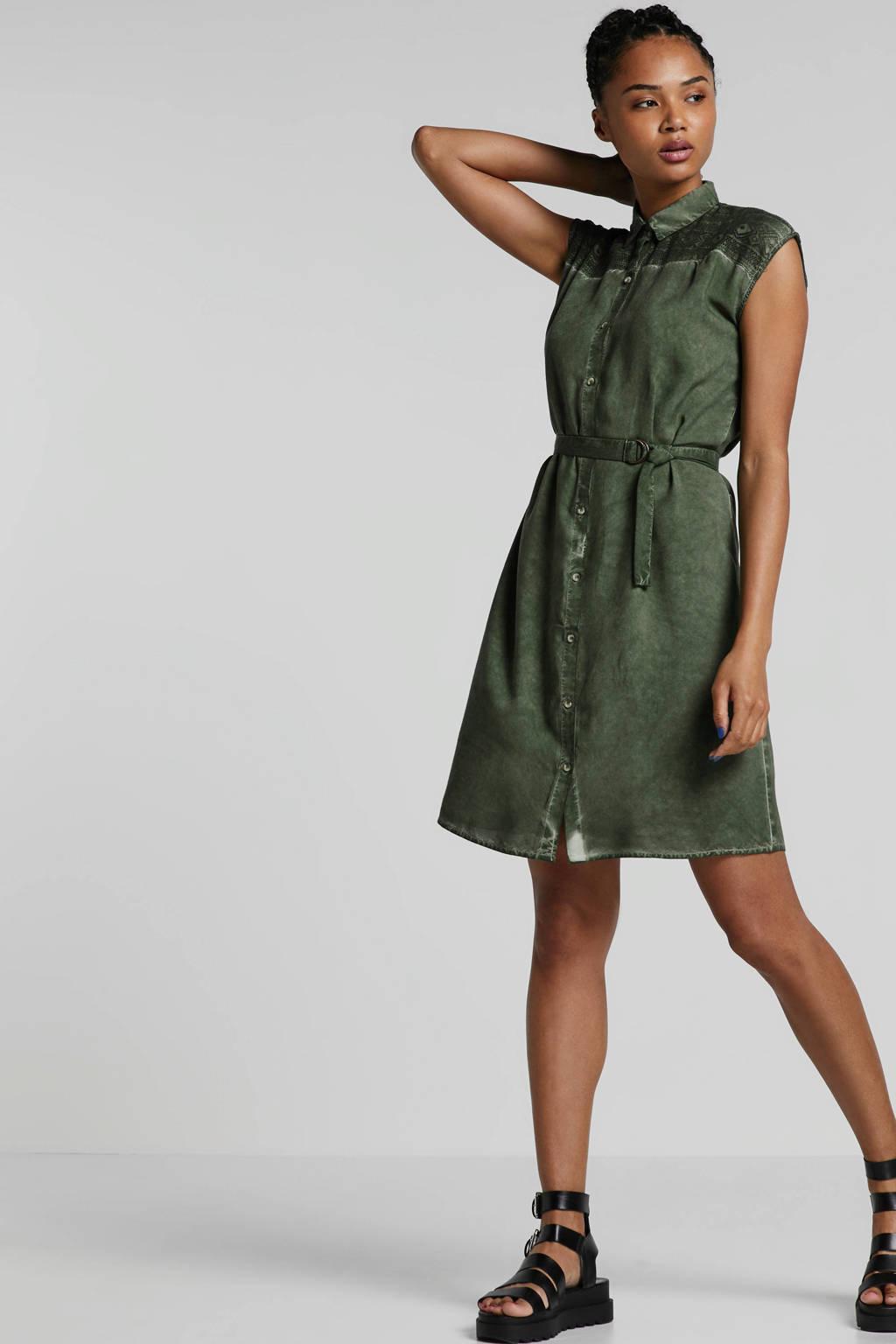 whkmp's beachwave blousejurk met kant groen, Groen