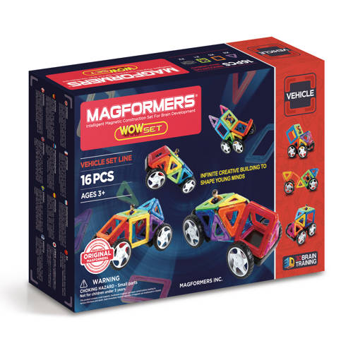 Magformers vehicle set 16 stuks kopen