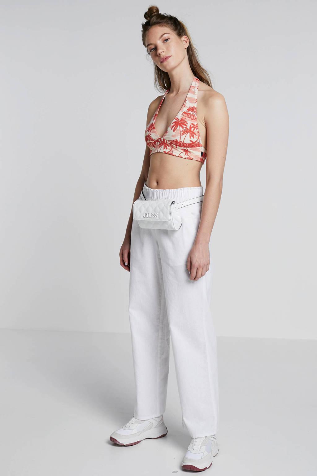 whkmp's beachwave palazzo broek met linnen wit, Wit