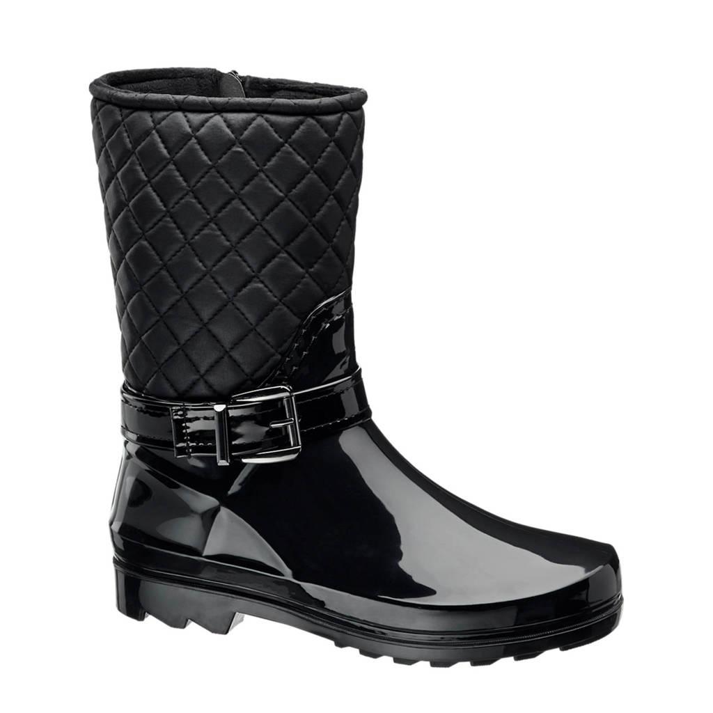 vanHaren Graceland regenlaars zwart, Zwart