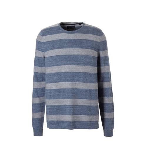 gestreepte trui blauw-grijs